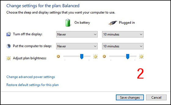Menyiapkan Hibernate Low Battery Option