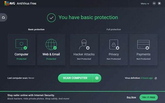 AVG Free Antivirus - Antivirus PC Gratis Terbaik Saat Ini