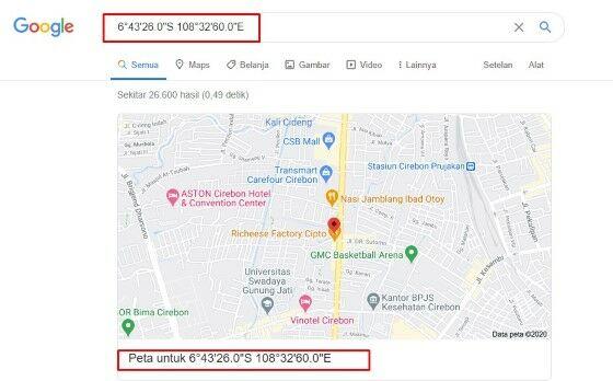 Cara Melihat Koordinat Di Google Map Iphone Db362