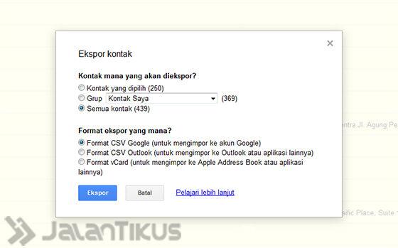 Simpan Ke Format Csv Google