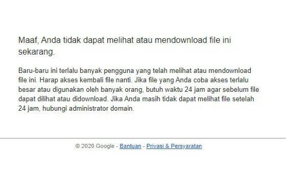 Cara Mengatasi Limit Google Drive Ee172
