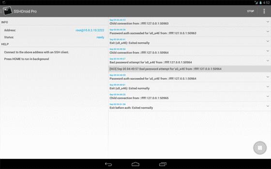 Sshdroid Aplikasi Hacking Android 4