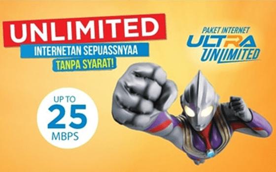Paket Internet BOLT! Pascabayar Ultra Unlimited