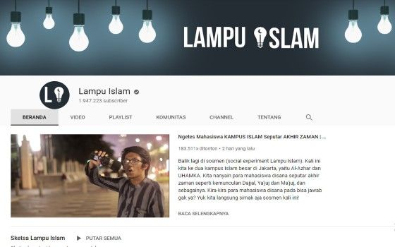 Channel Youtube Islami 1 Fabb8
