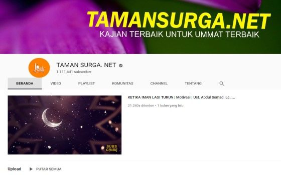 Channel Youtube Islami 3 9c3f5