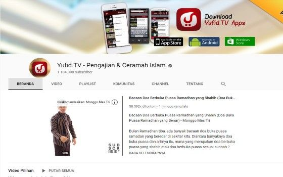 Channel Youtube Islami 4 A84f9