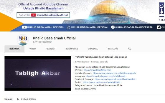 Channel Youtube Islami 5 80efd