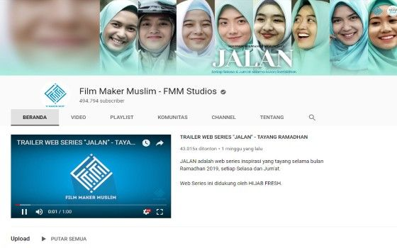 Channel Youtube Islami 9 800dc