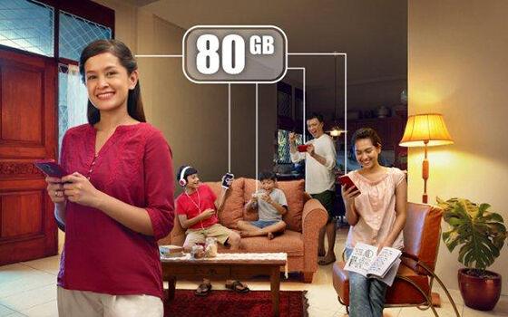 Paket Internet Telkomsel Kuota Keluarga 8600a
