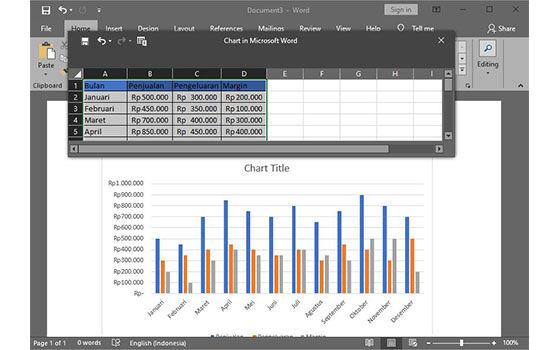 Cara Membuat Grafik Di Microsoft Word 4 E1a09