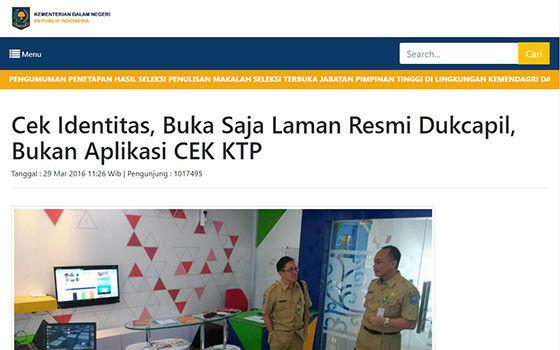 Cek Ktp Via Internet D73c8