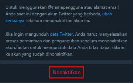 Cara Menghapus Akun Twitter 7 03e13