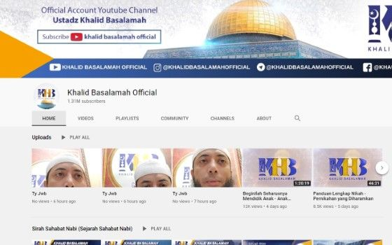 Channel Youtube Tausiyah 5 48b27