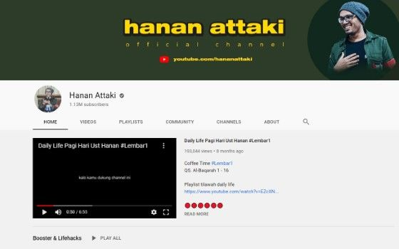 Channel Youtube Tausiyah 6 0d4d1
