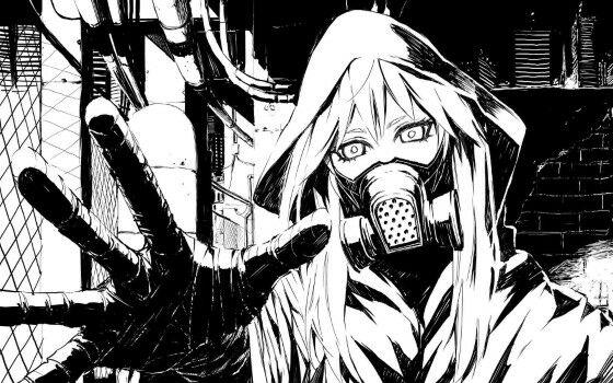 Gambar Anime Keren Hitam Putih 7 Custom 87c3b