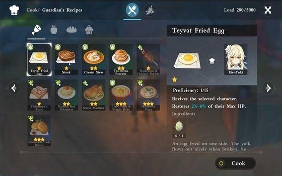Genshin Impact Cooking 153a5