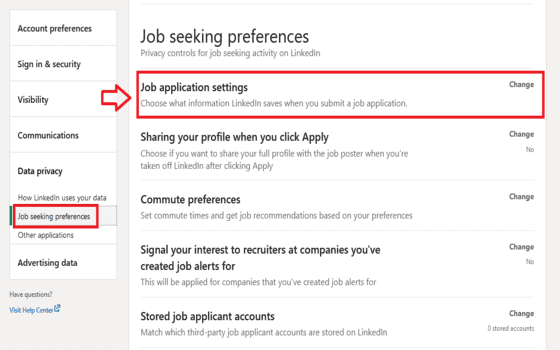Cara Upload Cv Di Linkedin Klik Job Application Settings 4cb2f