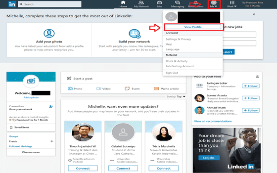 Cara Upload Cv Di Linkedin Klik View Profile C316d