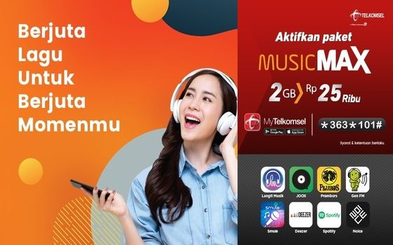 Kuota Multimedia Telkomsel Musicmax 49116
