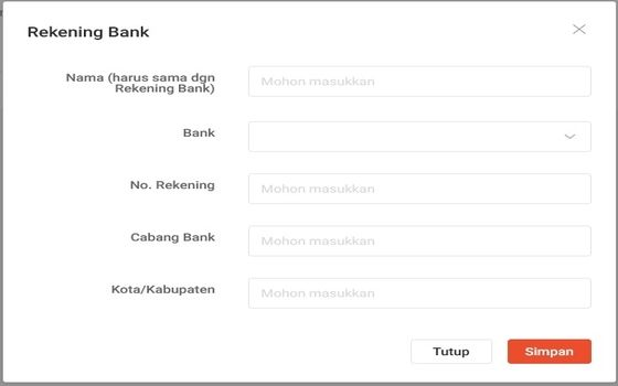 Cara Membuka Toko Di Shopee Rekening Bank 82124