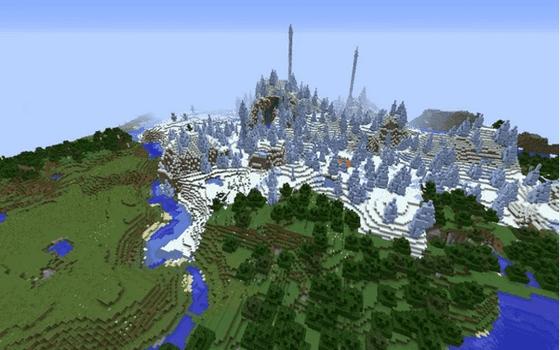Seed Minecraft Hutan Bunga Dan Dataran Es Ac484