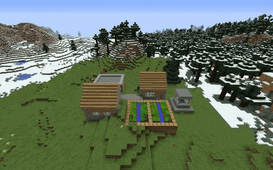 Seed Minecraft Snow Village B517b