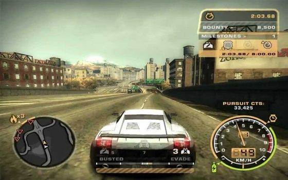 Cheat Need For Speed Most Wanted PS2 Start Menu B154e