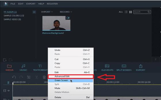 Cara Menghilangkan Background Video Di Filmora Pilih Advanced Edit 35cfa
