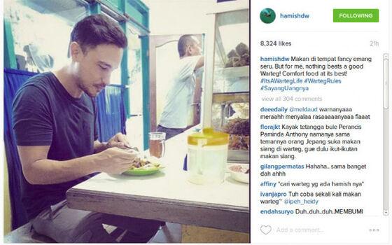 Artis Indonesia Yang Cuek Makan Di Warteg Hamish Daud 94594