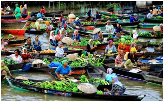 Tempat Wisata Di Indonesia Yang Mirip Luar Negeri Pasar Apung 5b393