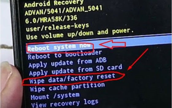 Cara Hard Reset HP Advan Reboot System 1d847