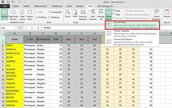 Cara Freeze Excel 2 7792d