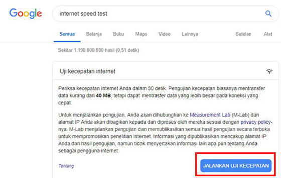 Cara Cek Koneksi Internet 7cf4c