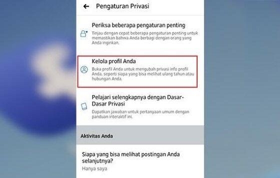 Cara Mengunci Profil Akun Facebook 22cf5