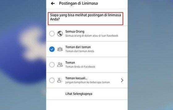 Cara Setting Facebook Agar Tidak Bisa Dilihat Orang Lain Df4b3