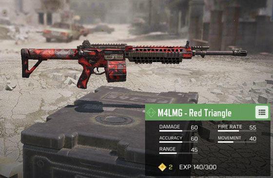 Senjata Terbaik Cod Mobile M4lmg Red Triangle F58e5