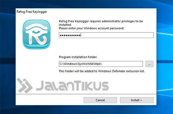 Cara Install Keylogger 2