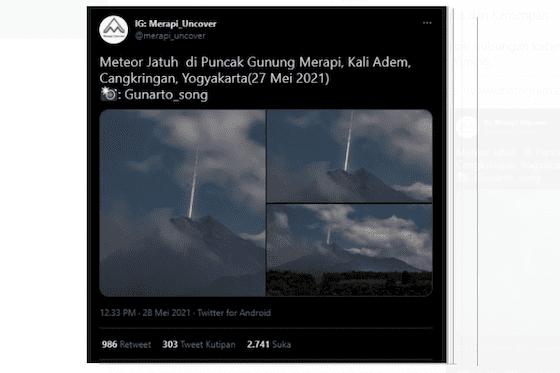 Meteor Jatuh Di Merapi A0700