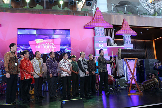 Opening Ceremony Pekan Raya Indonesia Oleh Triawan Munaf Kepala Badan Ekonomi Kreatif Bekraf