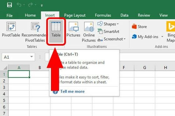 Cara Membuat Tabel Di Excel B Bacde