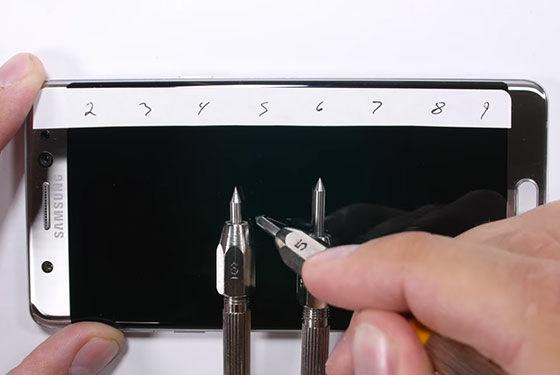 Galaxy Note 7 Uji Fisik