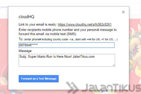 Kirim Sms Lewat Email