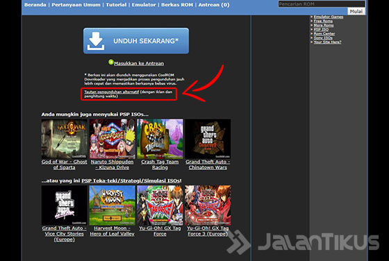 Cara Download Game Ppsspp Iso Di Coolrom 03 5891a