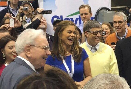 Warren Buffett Kathy Ireland Bill Gates C4f78