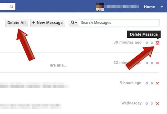 cara menghapus pesan facebook sekaligus 1