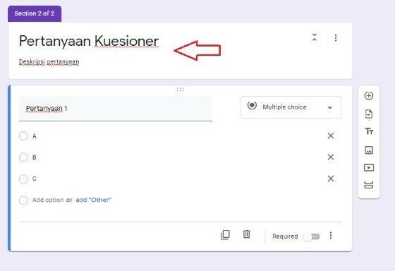 Cara Buat Kuesioner Google Form 8dd67