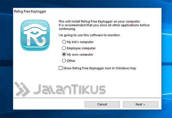 Cara Install Keylogger