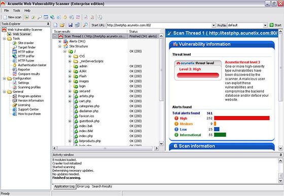 Acunetix Web Vulnerability Scanner