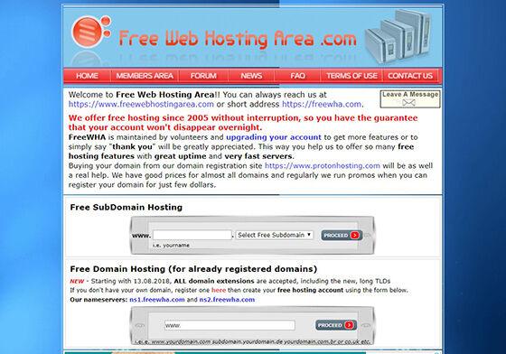 Hosting Gratis Terbaik Freewebhostingarea 0ccc9