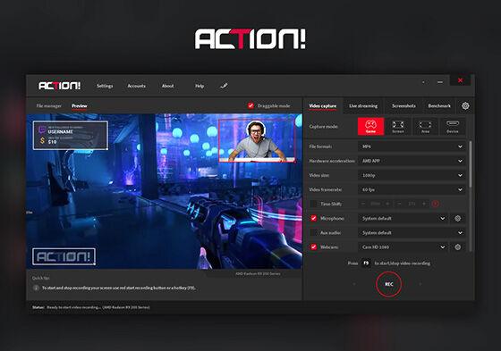 Aplikasi Perekam Layar Laptop Action B910d